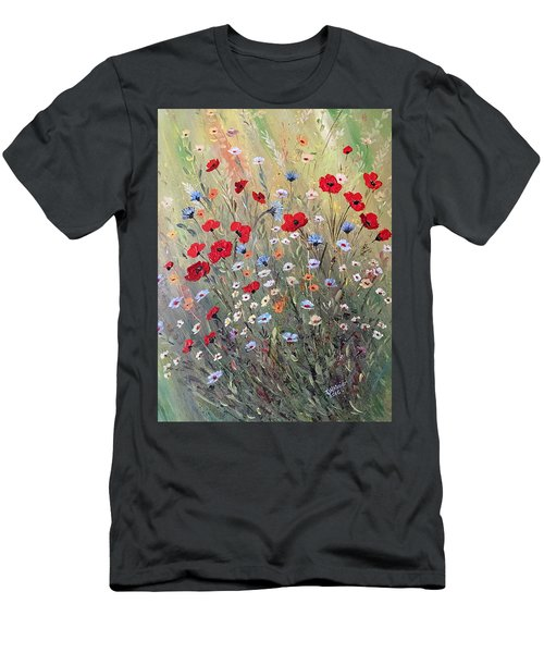 Midsummer Poppies Men's T-Shirt (Slim Fit) by Dorothy Maier