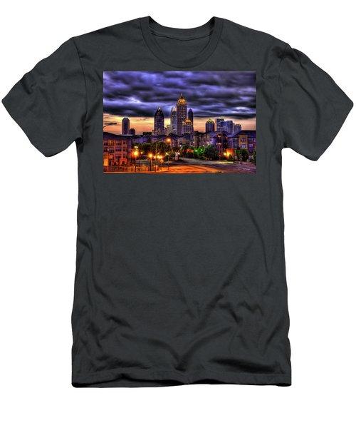 Midtown Atlanta Towers Over Atlantic Commons Men's T-Shirt (Slim Fit) by Reid Callaway