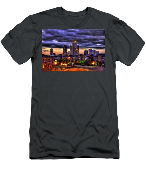 Midtown Atlanta Towers Over Atlantic Commons Art Men's T-Shirt (Athletic Fit)