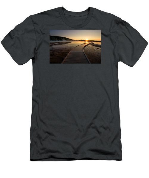 Men's T-Shirt (Slim Fit) featuring the photograph Midway Basin Sunset by Dan Mihai