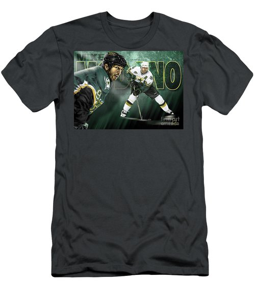 Mike Modano Men's T-Shirt (Slim Fit) by Don Olea