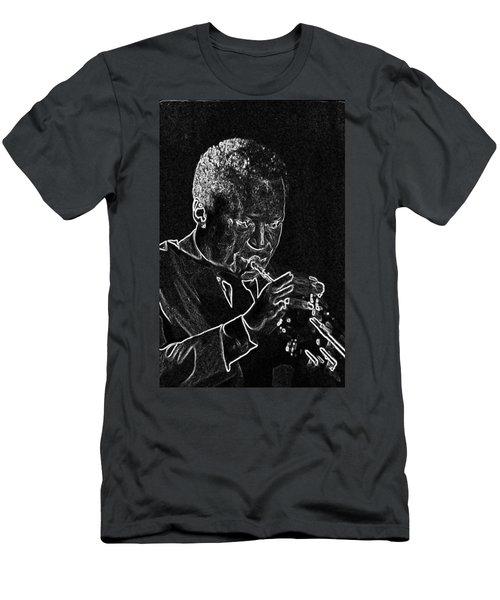 Miles Davis Men's T-Shirt (Slim Fit) by Charles Shoup