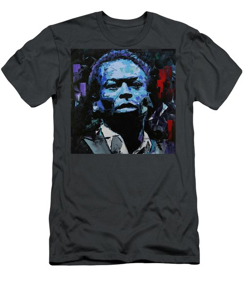 Men's T-Shirt (Slim Fit) featuring the painting Miles Davis by Richard Day