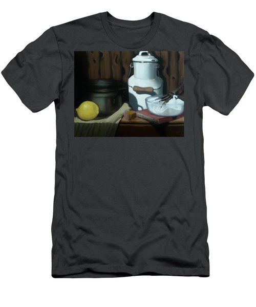 Men's T-Shirt (Slim Fit) featuring the painting Milk Jug Meringue by Susan Roberts