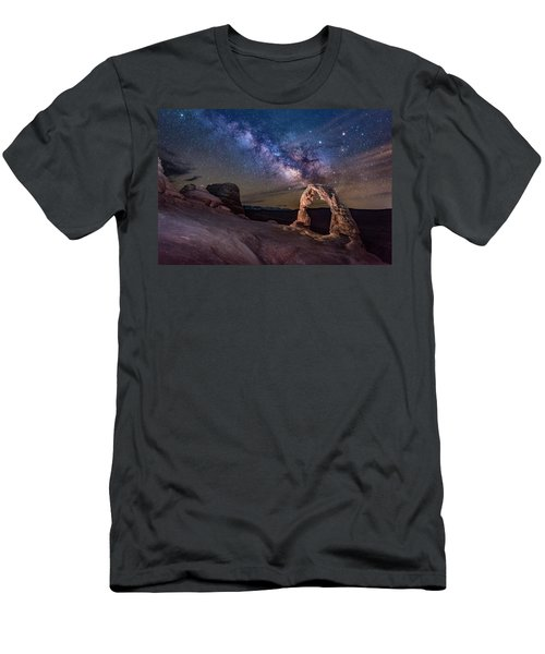 Milky Way And Delicate Arch Men's T-Shirt (Athletic Fit)