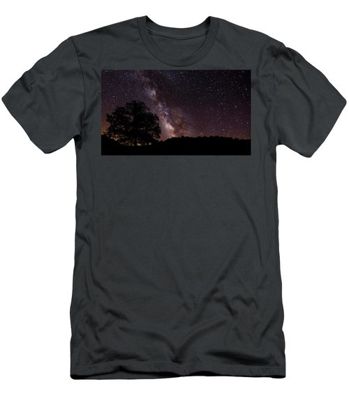 Milky Way And The Tree Men's T-Shirt (Athletic Fit)