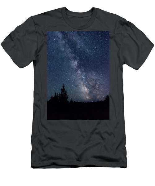 Milky Way At Eastern Oregon Wilderness Men's T-Shirt (Athletic Fit)