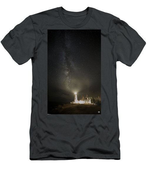 Milky Way At Pemaquid Light Men's T-Shirt (Athletic Fit)