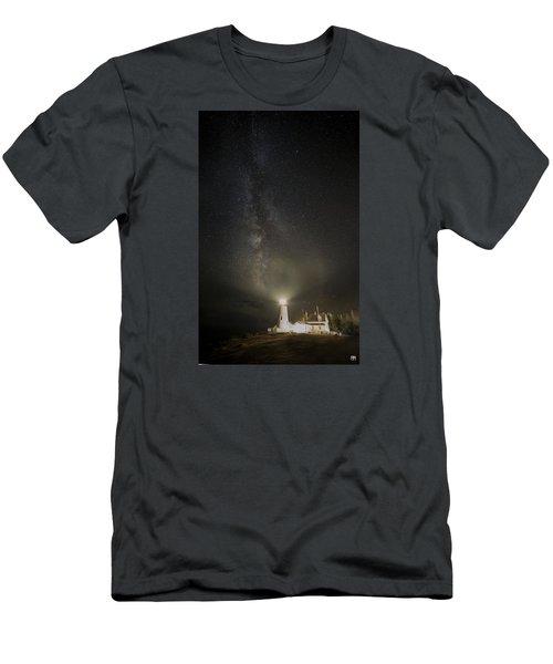 Milky Way At Pemaquid Light Men's T-Shirt (Slim Fit)