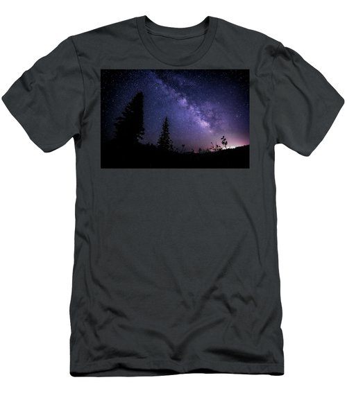Milky Way At Powder Mountain Men's T-Shirt (Athletic Fit)