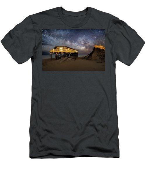 Milky Way Beach House Men's T-Shirt (Athletic Fit)