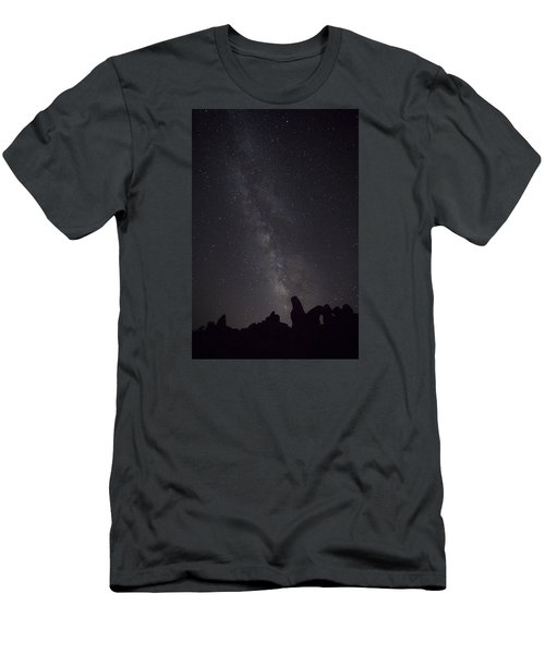 Milky Way Galaxy At Arches National Park Men's T-Shirt (Athletic Fit)