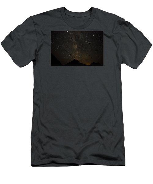 Milky Way, Glacier Nat'l Park Men's T-Shirt (Athletic Fit)