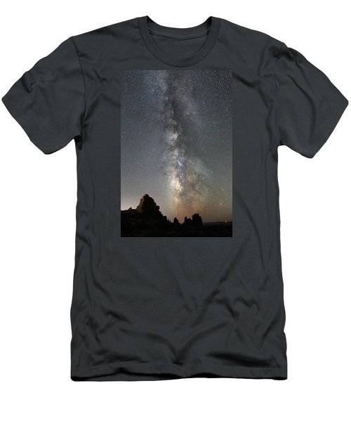 Milky Way Over Arches Np  One Men's T-Shirt (Athletic Fit)