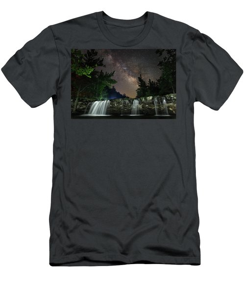 Milky Way Over Falling Waters Men's T-Shirt (Athletic Fit)