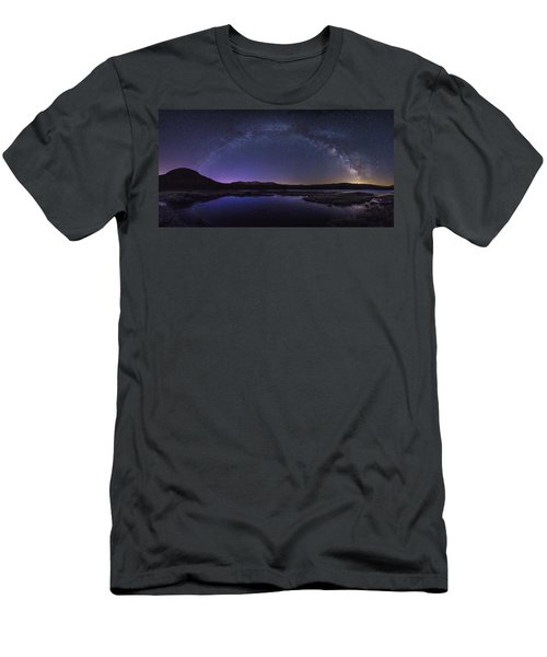 Milky Way Over Lonesome Lake Men's T-Shirt (Athletic Fit)