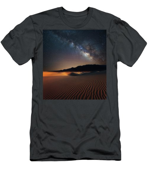 Men's T-Shirt (Athletic Fit) featuring the photograph Milky Way Over Mesquite Dunes by Darren White