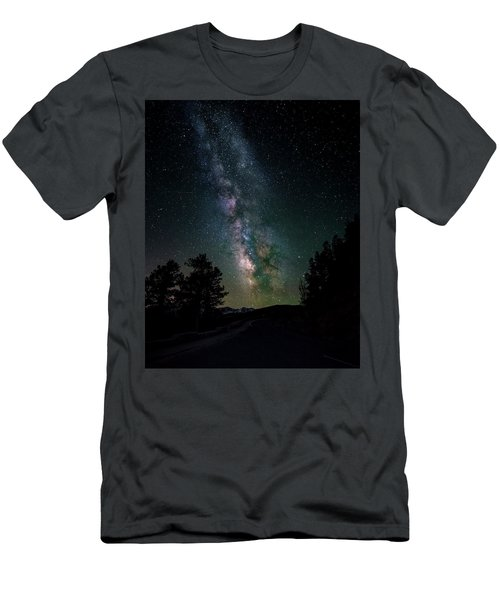 Milky Way Over Rocky Mountains Men's T-Shirt (Athletic Fit)