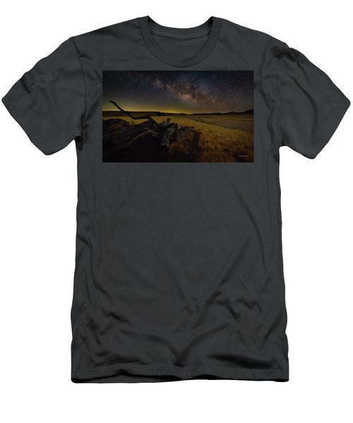 Milky Way Over The Canyon  Ranch Men's T-Shirt (Athletic Fit)