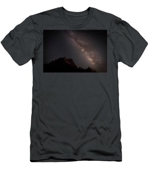 Milky Way Over Zion Men's T-Shirt (Athletic Fit)