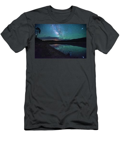 Milky Way Reflections Men's T-Shirt (Athletic Fit)