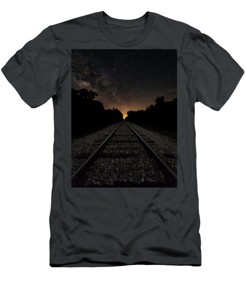 Milky Way Tracks Men's T-Shirt (Athletic Fit)