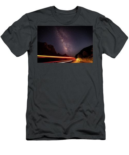 Milkyway Over The Higway Men's T-Shirt (Athletic Fit)