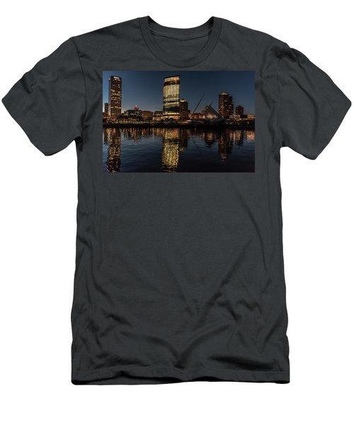 Men's T-Shirt (Slim Fit) featuring the photograph Milwaukee Reflections by Randy Scherkenbach