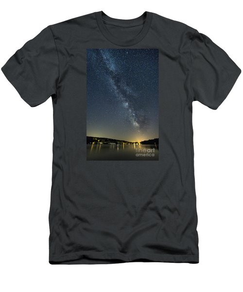 Milky Way From A Pontoon Boat Men's T-Shirt (Slim Fit) by Patrick Fennell