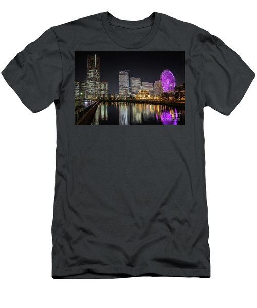 Minato Mirai At Night Men's T-Shirt (Athletic Fit)