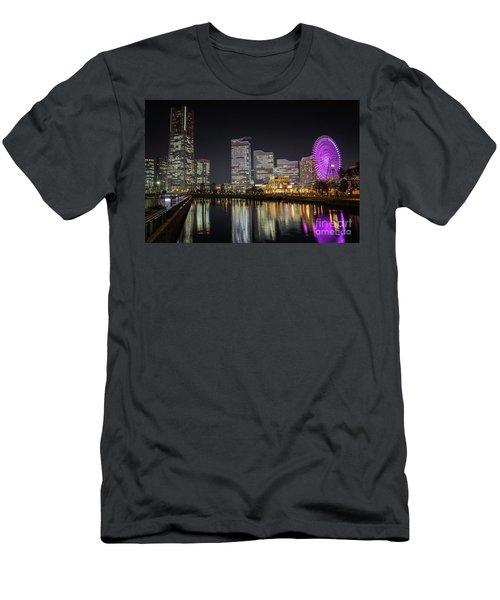 Minato Mirai At Night Men's T-Shirt (Athletic Fit)