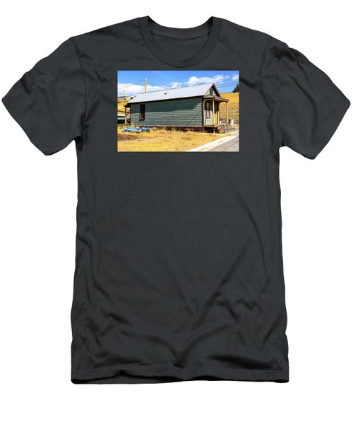 Miners Shack In Montana Men's T-Shirt (Slim Fit) by Chris Smith