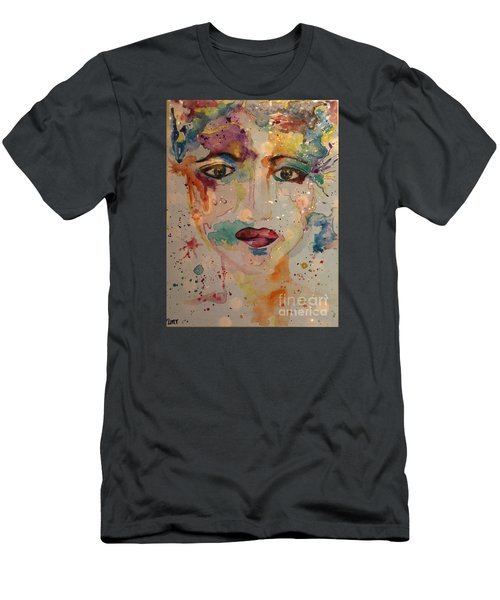 Men's T-Shirt (Slim Fit) featuring the painting Minerva by Denise Tomasura