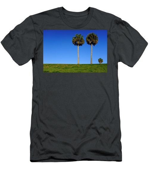 Minimal Palm Trees On A Hill In Saint Augustine Florida Men's T-Shirt (Athletic Fit)