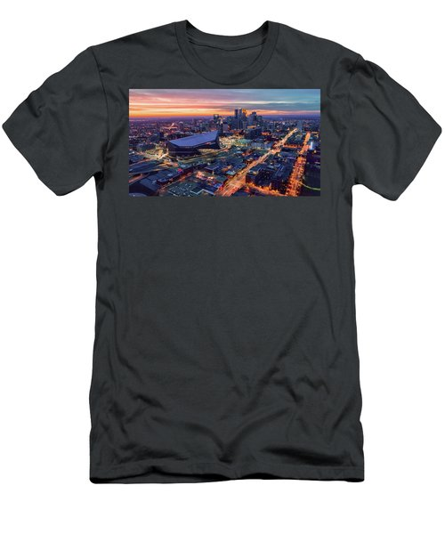Minneapolis And Us Bank Stadium At Dusk Men's T-Shirt (Athletic Fit)