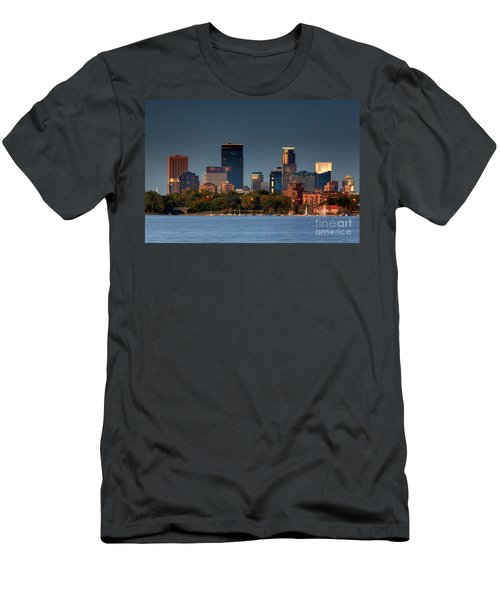 Minneapolis Skyline Photography Lake Calhoun Summer Evening Men's T-Shirt (Athletic Fit)