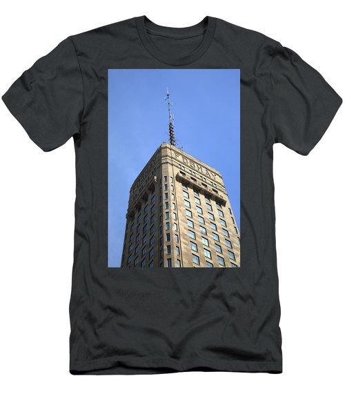 Men's T-Shirt (Slim Fit) featuring the photograph Minneapolis Tower 6 by Frank Romeo