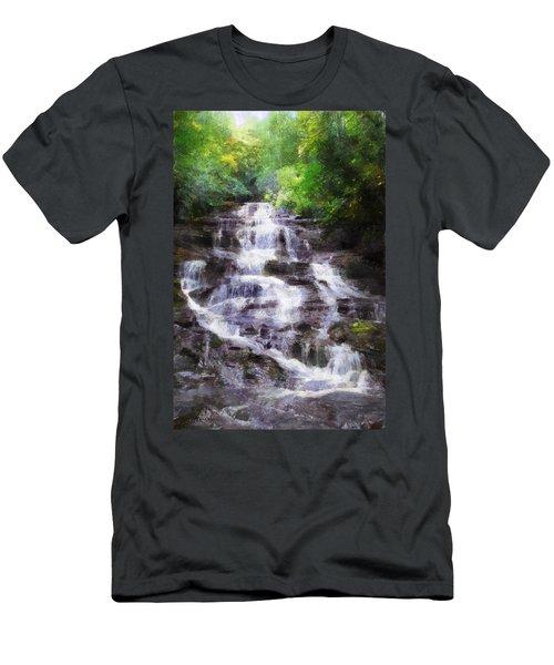 Minnehaha Falls Summer Men's T-Shirt (Slim Fit) by Francesa Miller