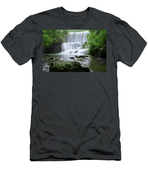 Men's T-Shirt (Slim Fit) featuring the photograph Mirror Lake by Renee Hardison