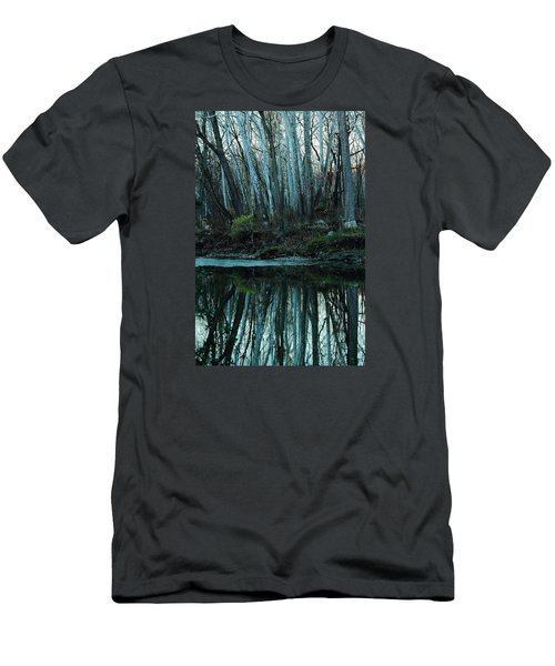 Men's T-Shirt (Slim Fit) featuring the photograph Mirrored by Bruce Patrick Smith
