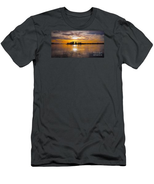 Mission Bay Purple Sunset By Jasna Gopic Men's T-Shirt (Slim Fit) by Jasna Gopic