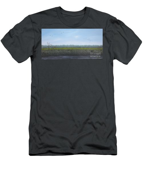 Men's T-Shirt (Athletic Fit) featuring the painting Missiquoi Refuge by Tracey Goodwin