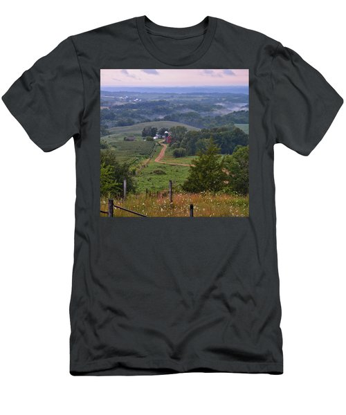 Mississippi River Valley 2 Men's T-Shirt (Slim Fit) by Bonfire Photography
