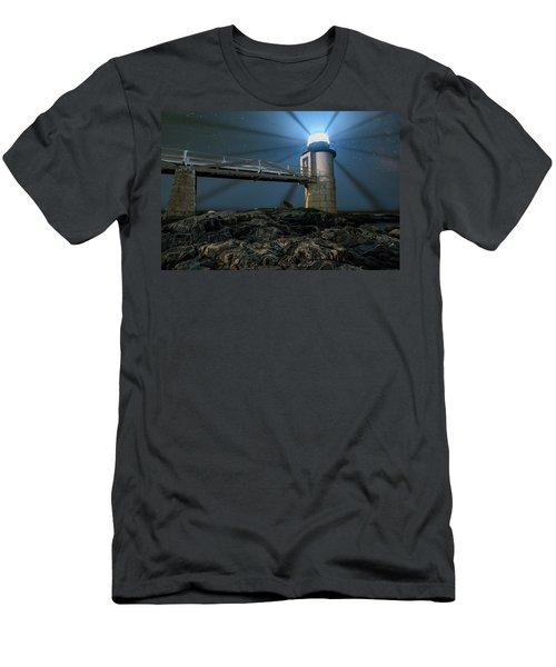 Mist At Marshall Point Light Men's T-Shirt (Athletic Fit)