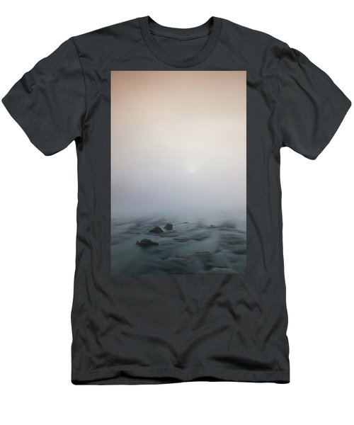 Men's T-Shirt (Athletic Fit) featuring the photograph Mist Over The Third Stone From The Sun by Davor Zerjav