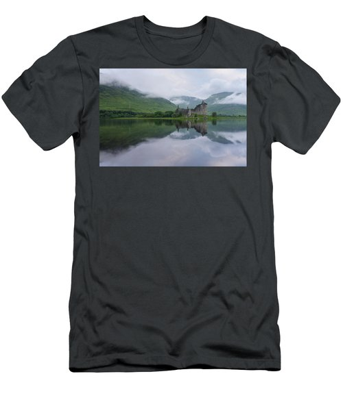 Mist Swarms Around Kilchurn Castle Men's T-Shirt (Athletic Fit)