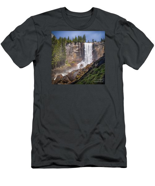 Mist Trail And Vernal Falls Men's T-Shirt (Athletic Fit)