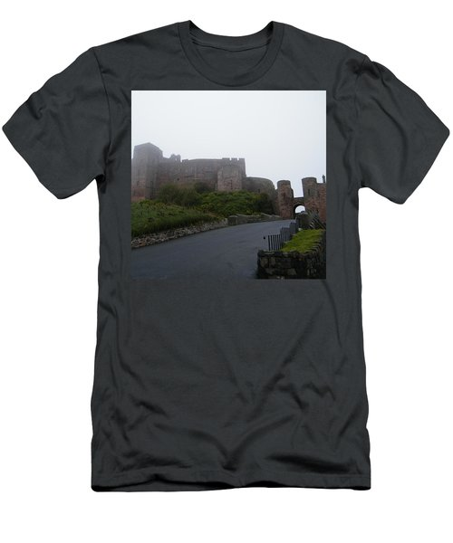 Misty Bamburgh Castle Men's T-Shirt (Athletic Fit)