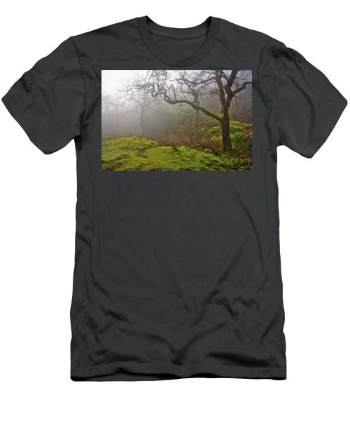 Misty Forest Men's T-Shirt (Slim Fit) by Keith Boone