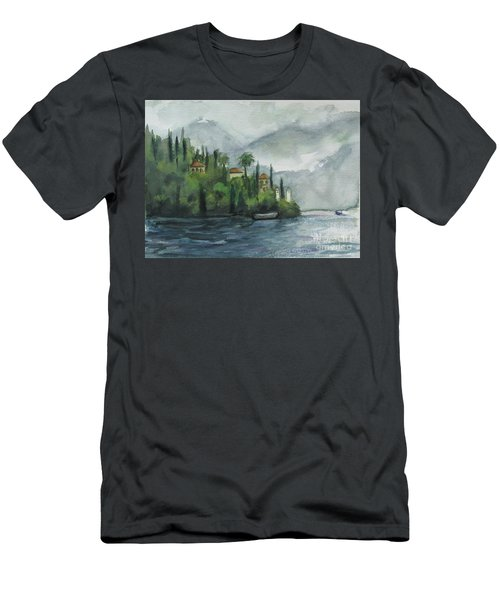 Misty Island Men's T-Shirt (Slim Fit) by Laurie Morgan